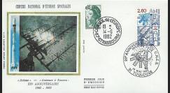 AR 12L : 1982 - FDC 1er Jour Toulouse '20e anniversaire du CNES'