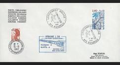 AR 14LA : 1982 - Env. entête Parlement eur. - Kourou 'Ariane L05'