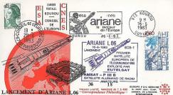 AR 16L : 1983 - FDC Kourou 'Ariane L06 - sat. ECS-1 & AMSAT-PIIIB'
