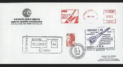 AR 16LB : 1983 - FDC ESA 'Ariane L06 - sat. ECS-1 & AMSAT-PIIIB'