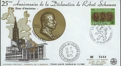 LUX12L : 1975 - FDC Parlement eur. '25e anniversaire Déclaration Schuman'