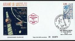 SEP 16L : 1983 - FDC SEP 'Ariane L06 - sat. ECS-1 & AMSAT-PIIIB'