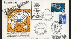 AR 15L : 1983 - FDC 1er Jour Luxembourg 'Ariane L06 - satellite ECS'