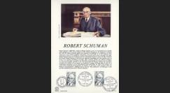FE29DO : 1975 - Document historique 1er Jour du TP 'Schuman