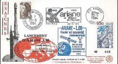 AR 19L : 1984 - FDC Kourou 'Ariane L09 - satellite SPACENET 1'