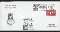 AR 19LA : 1984 - Env. entête Conseil de l'Europe - Kourou 'Ariane L09'