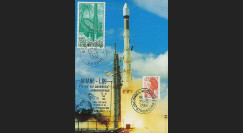 AR 19LC : 1984 - Carte maxi Kourou 'Ariane L09 - satellite SPACENET 1'