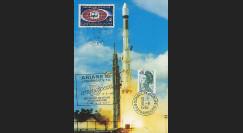 AR 20LC : 1984 - Carte maxi Kourou 'Ariane L10 - sat. ECS-2 et Telecom 1A'