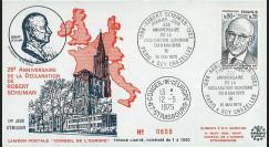 FE29C : 1975 - FDC Conseil de l'Europe 1er Jour TP 'Schuman