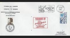 AR 20LA : 1984 - Env. entête Conseil de l'Europe - Kourou 'Ariane L10'