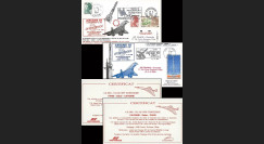 CO 30-31L : 1984 - 2 plis voyagés Concorde '1er tir Ariane 3'