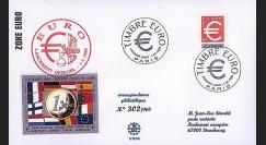 PE378 : 1999 - FDC France '1er Jour TP EURO gommé'