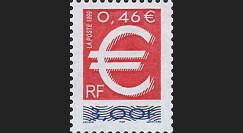 YT3214 : 1999 - TP France double faciale 'lancement de l'EURO'