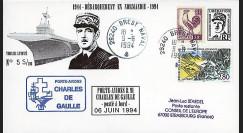 NAV15DEB : 1994 - Pli PA de Gaulle '50 ans Débarquement Normandie'