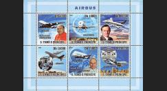 A380-70N : 2008 - Bloc St-Tomé et Principe 'Programmes Airbus A380 & A350'