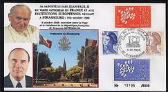 PAP1 type1 : 1988  Entretien Jean-Paul II - Mitterrand
