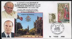 PAP1 type3 : 1988 Entretien Jean-Paul II - Mitterrand