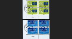 CE60-PJ4 : 2009 - Bloc de 4 TP de service Conseil de l'Europe 1er jour