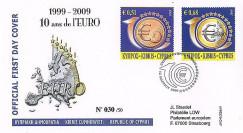 PE570-CHY : 2009 - FDC Chypre '1er Jour TP 10 ans de l'Euro'