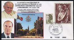 PAP1 type4 : 1988 Entretien Jean-Paul II - Mitterrand