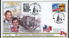 DEB09-4 : 2009 - FDC '65 ans D-Day - prince Charles et G. Brown'