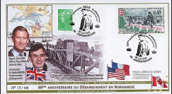 DEB09-4A : 2009 - FDC '65 ans D-Day - prince Charles et G. Brown'