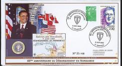 DEB09-5A : 2009 - FDC '65 ans D-Day - président Obama'