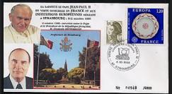 PAP1 type5 : 1988 Entretien Jean-Paul II - Mitterrand