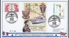 DEB09-7A : 2009 - FDC '65 ans D-Day - Hommage au Commando Kieffer'