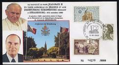 PAP1 type6 : 1988 Entretien Jean-Paul II - Mitterrand
