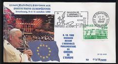 CE40-II type1 : 1988 Le Pape Jean-Paul II au Conseil de l'Europe