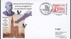 LZ408-1T2 : 2008 Pli 'Zeppelin LZ4 survole la cathédrale de Strasbourg'