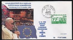 CE40-II type2 : 1988 Le Pape Jean-Paul II au Conseil de l'Europe