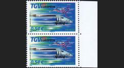 PE539-VP : 2007 - Paire 2 TP 'TGV Est' normal + variété décalage couleurs