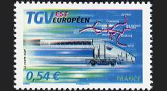 PE539-V : 2007 - TP 'TGV Est' normal + variété décalage des couleurs