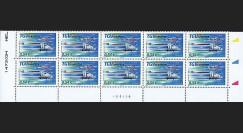 PE539-VB10 : 2007 - Bloc de 10 TP 'TGV Est' normal + variété décalage couleurs