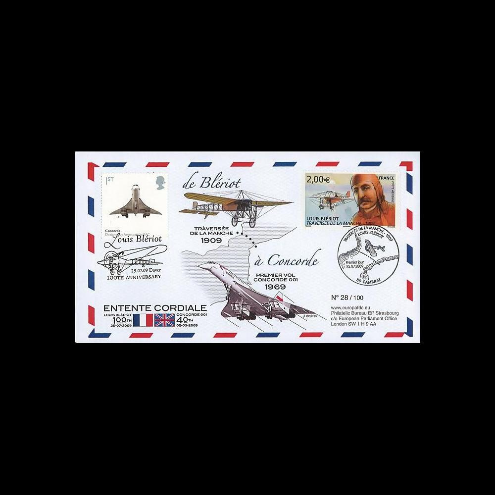 BLE09-3 : 2009 - Pli 'de Blériot à Concorde' France (Cambrai) - GB