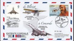 BLE09-3A : 2009 - Pli 'de Blériot à Concorde' France (Paris) - GB