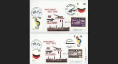 """EC 04-1 : 2004 - 2 plis GB """"Centenaire Entente Cordiale - Blériot et Concorde"""""""