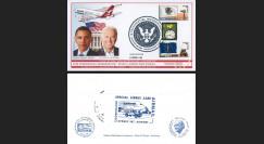 A380-76T2 Pli USA 'Vol QANTAS Washington-LA-Sydney / Investiture Obama & Biden' 2009