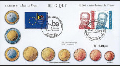 PE445-1 : 2002 - FDC 1er Jour TP 'Introduction de l'Euro' - Belgique
