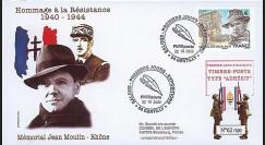 MOUL09-2 : 2009 - FDC 1er Jour TP 'Memorial Jean Moulin' adhésif