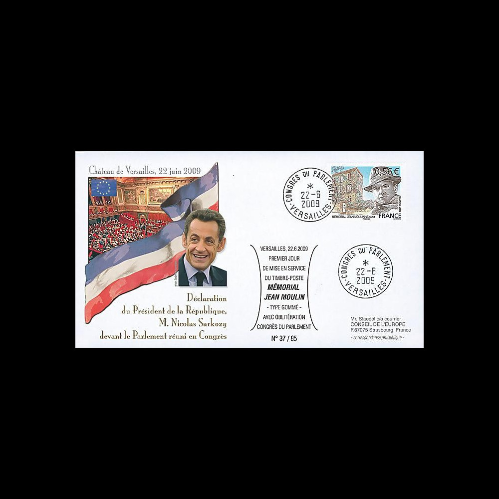 MOUL09-3 : 2009 - FDC 'Sarkozy réuni le Parlement en Congrès'