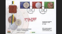 PE445-8 : 2002 - FDC 1er Jour TP 'Introduction de l'Euro' - Irlande