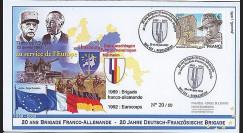 BFA09-1T1 : 2009 - Pli '20 ans Brigade Franco-allde - de Gaulle & Adenauer'