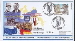 BFA09-1T2 : 2009 - Pli '20 ans Brigade Franco-allde - de Gaulle & Adenauer'