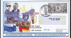 BFA09-1T3 : 2009 - Pli '20 ans Brigade Franco-allde - de Gaulle & Adenauer'