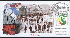 BERL01-M : 2001 - FDC '40 ans Construction Mur de Berlin' Allemagne