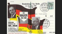 PE207A : 1989 - PAP Allemagne 'Ouverture du Mur de Berlin avec M. Kohl'