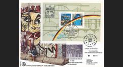 """PE222 : 1990 - Maxi FDC ALLEMAGNE """"1 an Ouverture du MUR DE BERLIN - Die Berliner MAUER"""""""